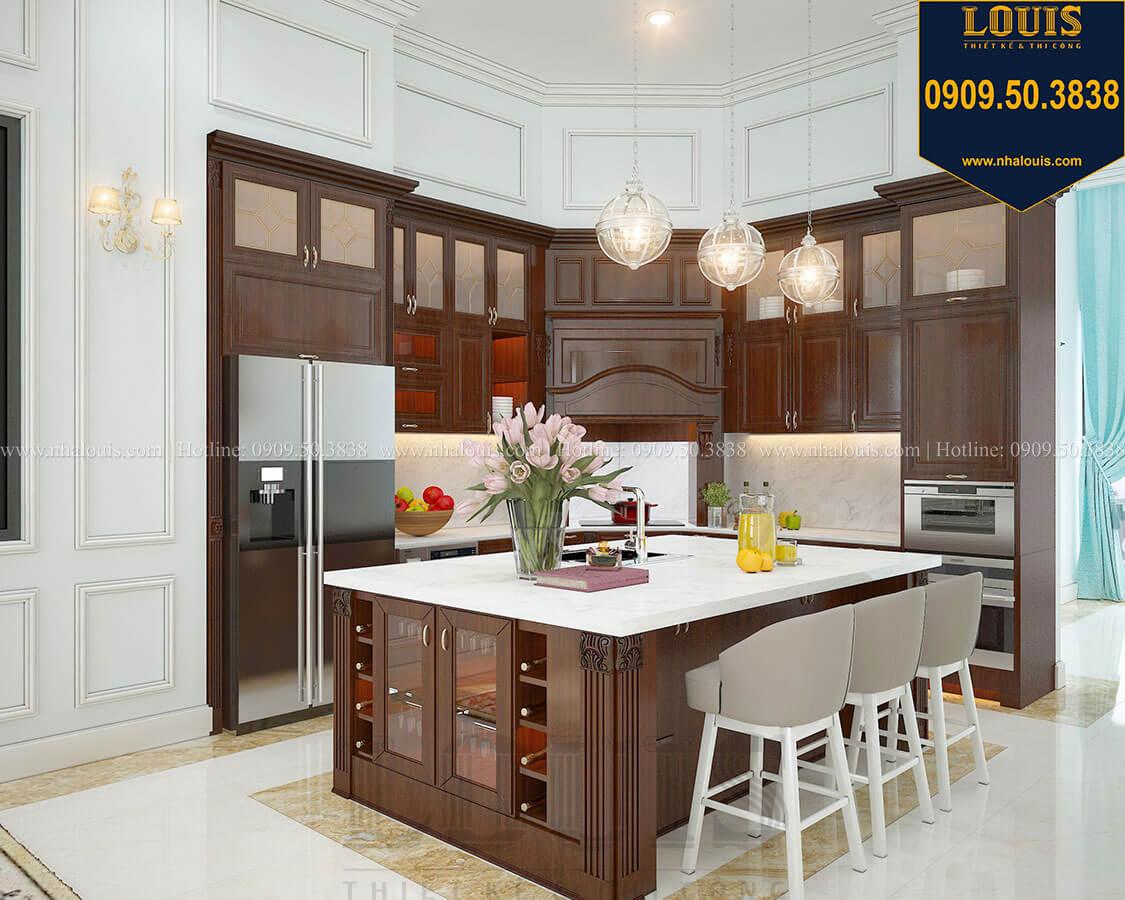 Phòng bếp Biệt thự 3 tầng có tầng hầm với phong cách tân cổ điển tại Bình Dương - 14