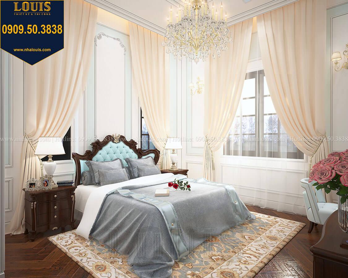 Phòng ngủ master Biệt thự 3 tầng có tầng hầm với phong cách tân cổ điển tại Bình Dương - 15