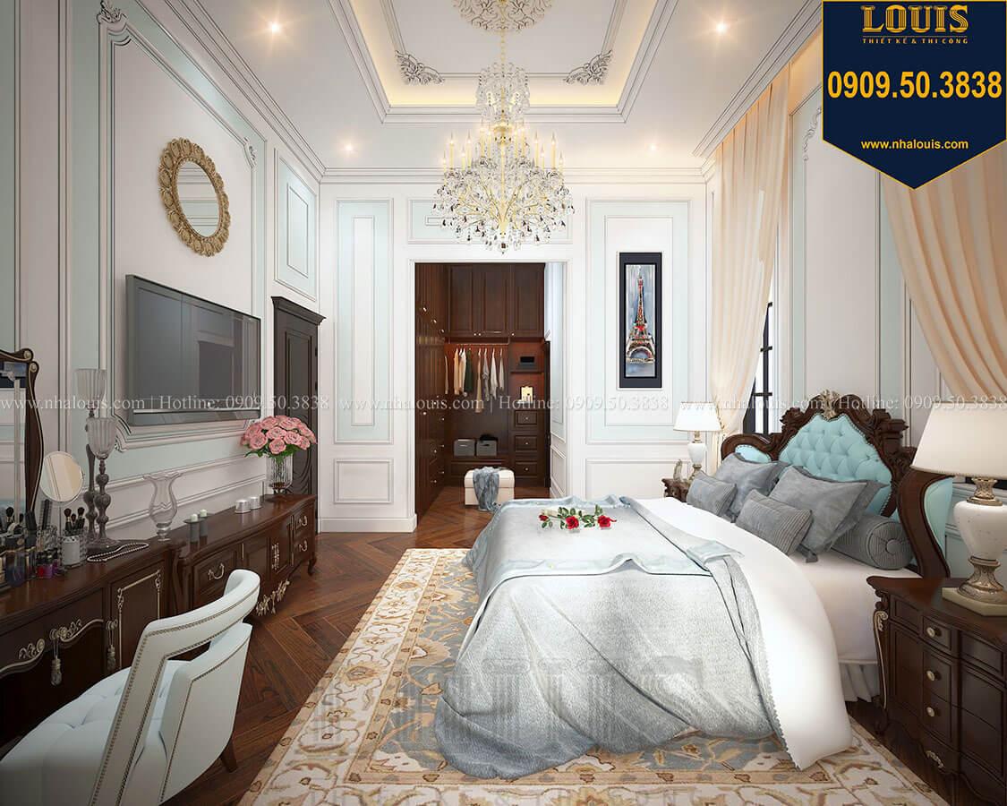 Phòng ngủ master Biệt thự 3 tầng có tầng hầm với phong cách tân cổ điển tại Bình Dương - 16