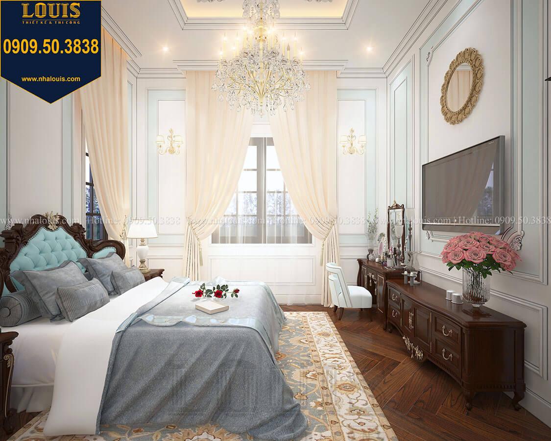 Phòng ngủ master Biệt thự 3 tầng có tầng hầm với phong cách tân cổ điển tại Bình Dương - 17