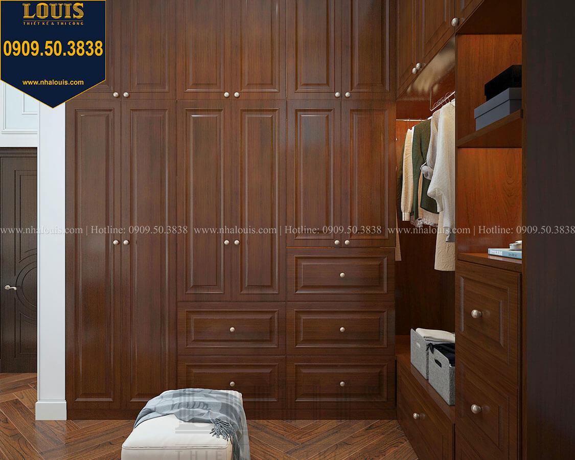 Phòng ngủ master Biệt thự 3 tầng có tầng hầm với phong cách tân cổ điển tại Bình Dương - 18