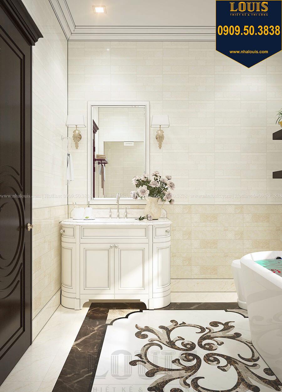 Phòng tắm và WC Biệt thự 3 tầng có tầng hầm với phong cách tân cổ điển tại Bình Dương - 19