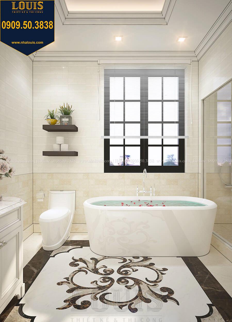 Phòng tắm và WC Biệt thự 3 tầng có tầng hầm với phong cách tân cổ điển tại Bình Dương - 20