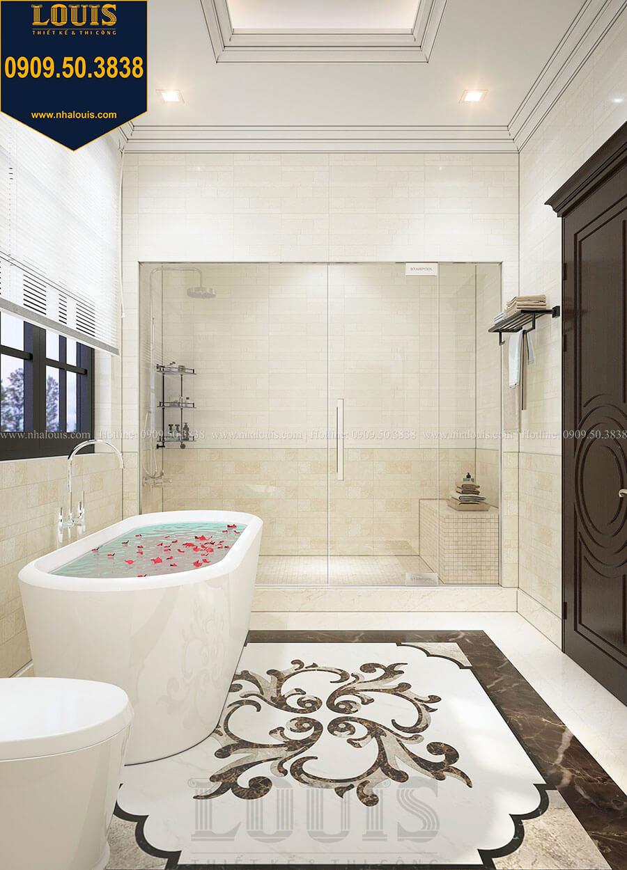 Phòng tắm và WC Biệt thự 3 tầng có tầng hầm với phong cách tân cổ điển tại Bình Dương - 21