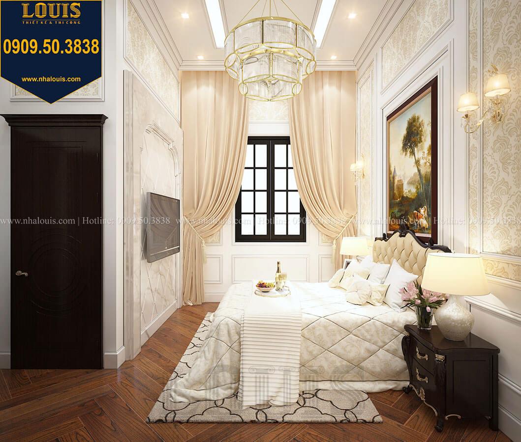 Phòng ngủ khách Biệt thự 3 tầng có tầng hầm với phong cách tân cổ điển tại Bình Dương - 22