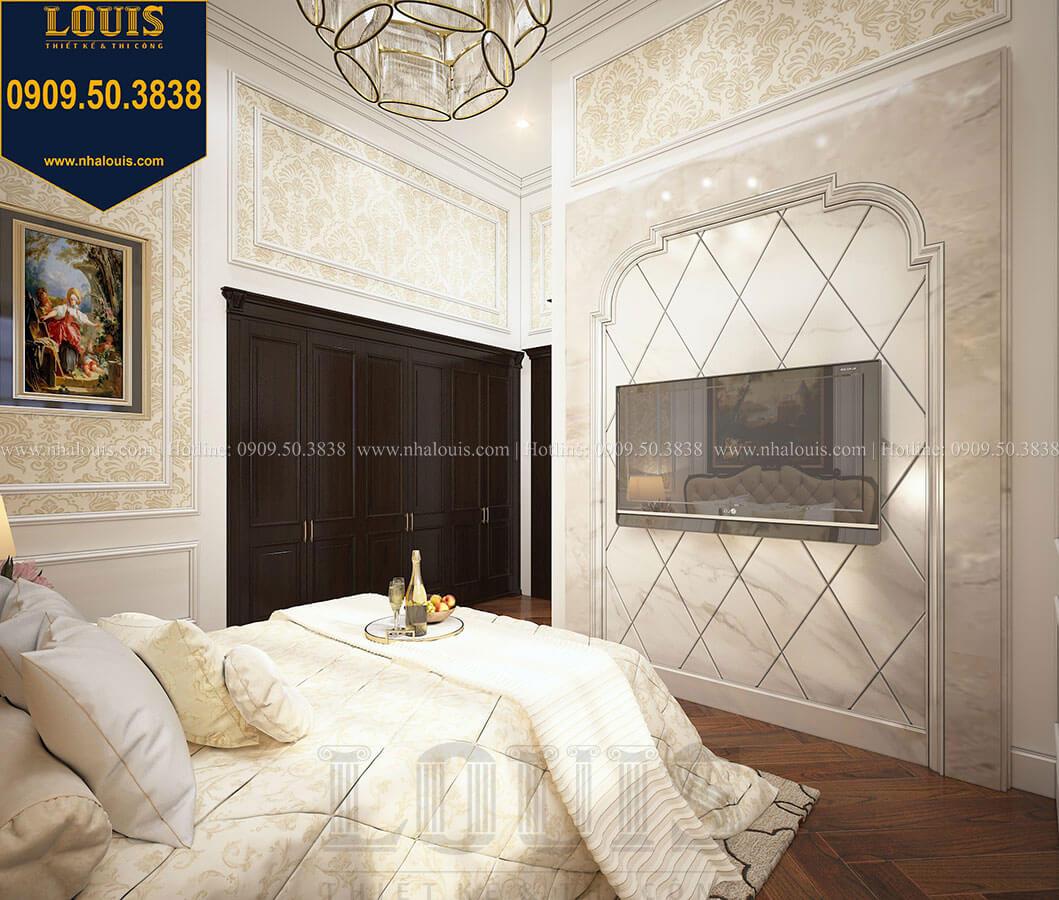 Phòng ngủ khách Biệt thự 3 tầng có tầng hầm với phong cách tân cổ điển tại Bình Dương - 23