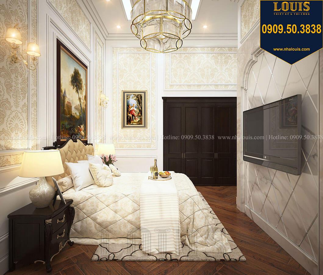 Phòng ngủ khách Biệt thự 3 tầng có tầng hầm với phong cách tân cổ điển tại Bình Dương - 24