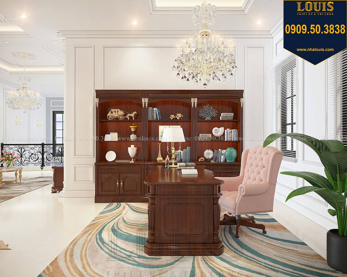 Phòng làm việc và đọc sách Biệt thự 3 tầng có tầng hầm với phong cách tân cổ điển tại Bình Dương - 27