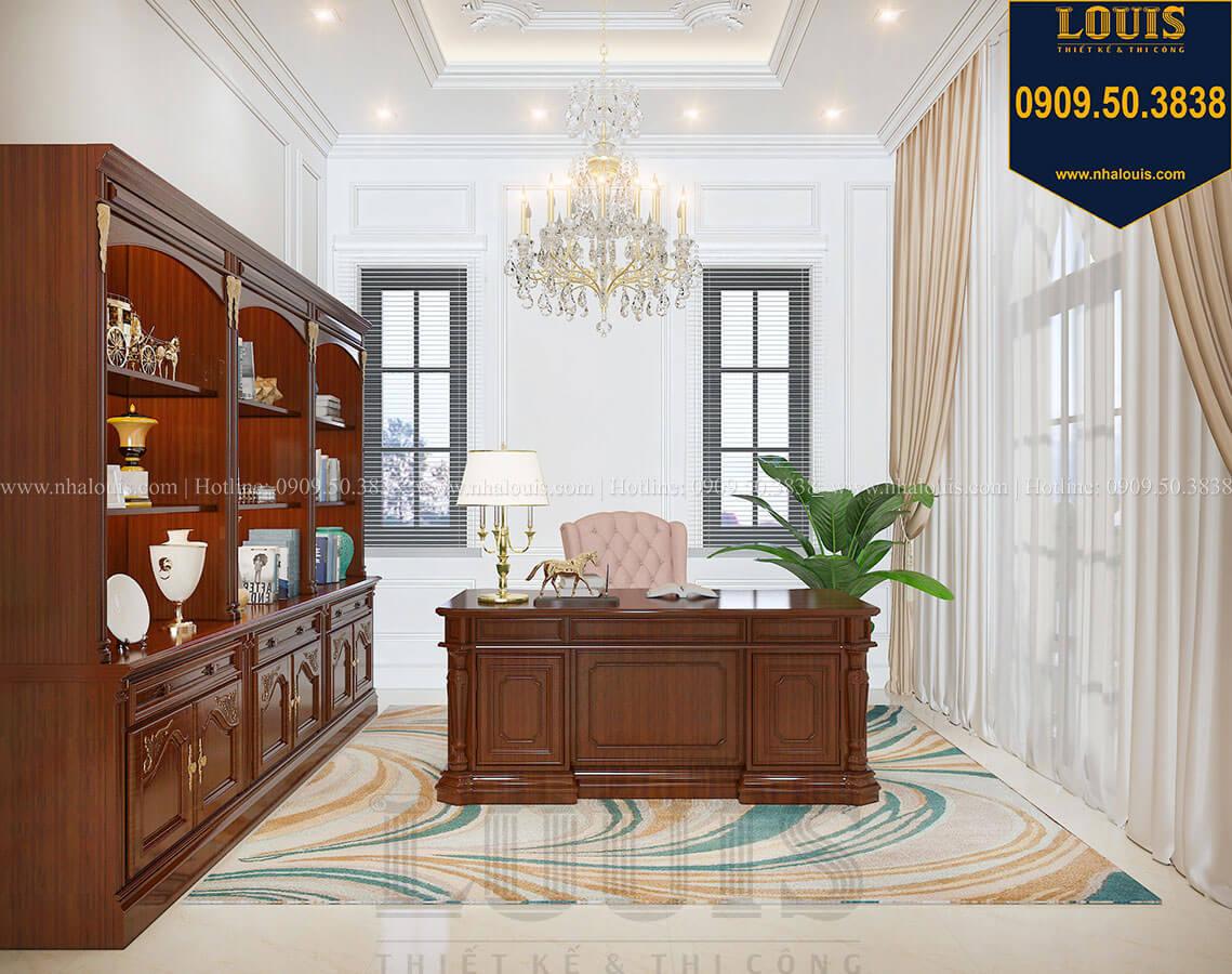 Phòng làm việc và đọc sách Biệt thự 3 tầng có tầng hầm với phong cách tân cổ điển tại Bình Dương - 28