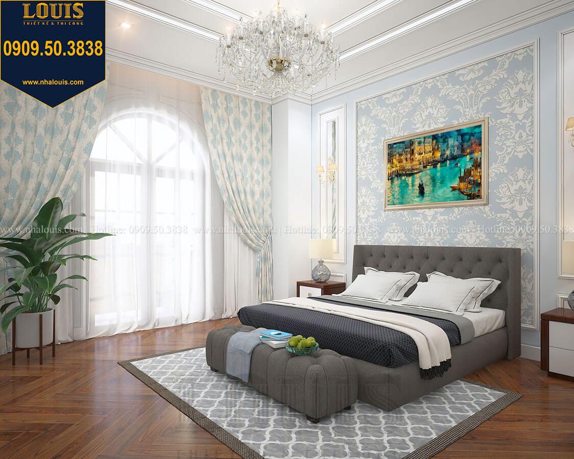 Phòng ngủ Biệt thự 3 tầng có tầng hầm với phong cách tân cổ điển tại Bình Dương - 30