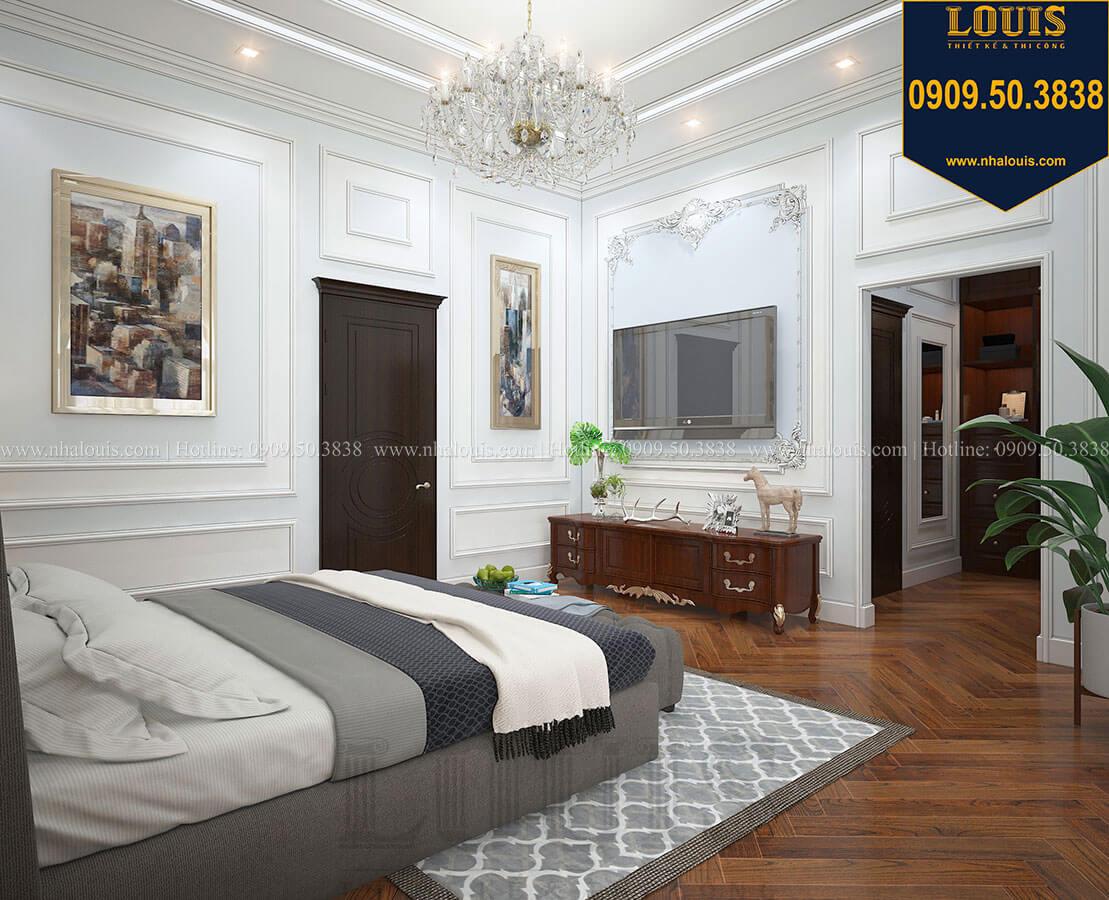 Phòng ngủ Biệt thự 3 tầng có tầng hầm với phong cách tân cổ điển tại Bình Dương - 31