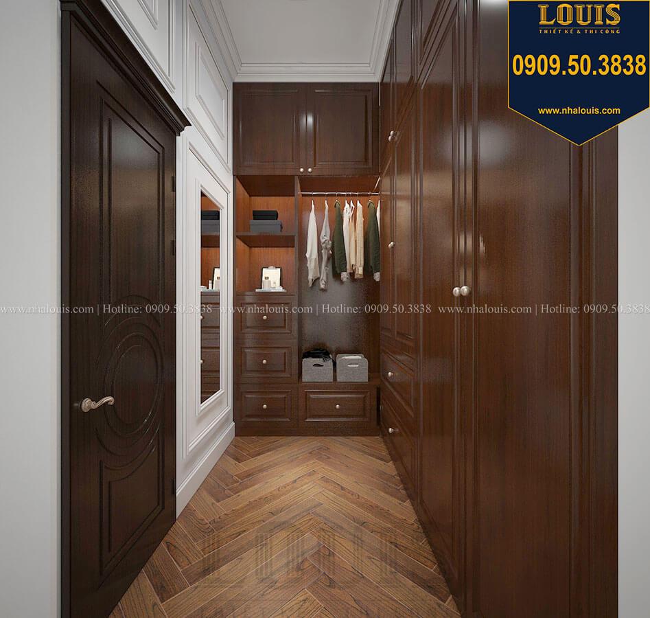 Phòng thay đồ Biệt thự 3 tầng có tầng hầm với phong cách tân cổ điển tại Bình Dương - 32