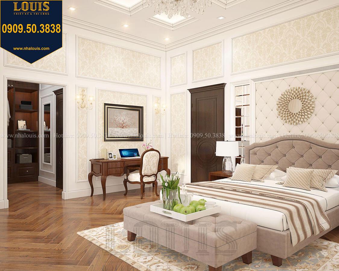 Phòng ngủ Biệt thự 3 tầng có tầng hầm với phong cách tân cổ điển tại Bình Dương - 35
