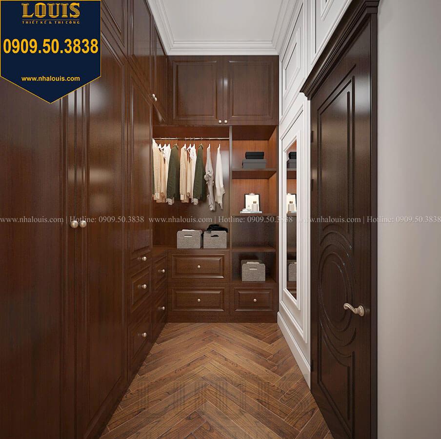 Phòng thay đồ Biệt thự 3 tầng có tầng hầm với phong cách tân cổ điển tại Bình Dương - 38