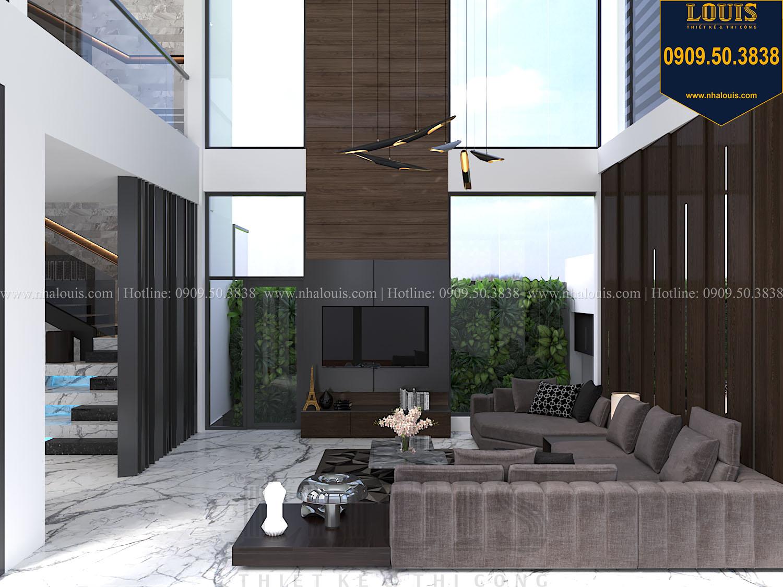 Phòng khách Mẫu biệt thự 3 tầng hiện đại với không gian mở ở quận 12 - 009