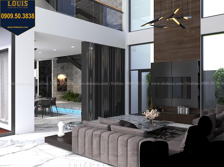 Phòng khách Mẫu biệt thự 3 tầng hiện đại với không gian mở ở quận 12 - 010