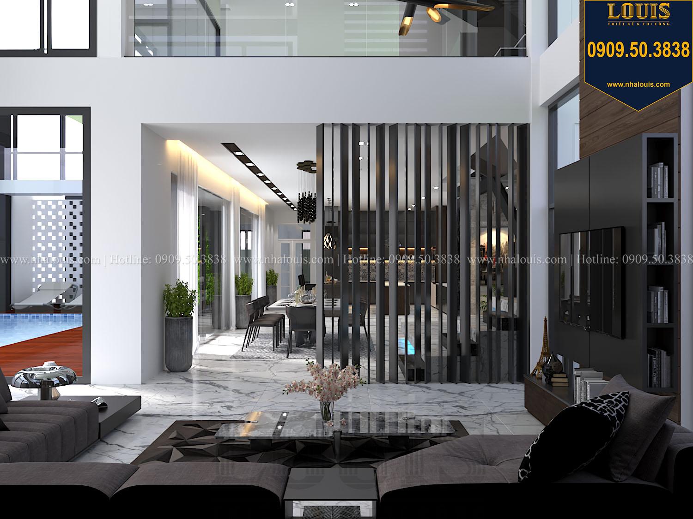 Phòng khách Mẫu biệt thự 3 tầng hiện đại với không gian mở ở quận 12 - 011
