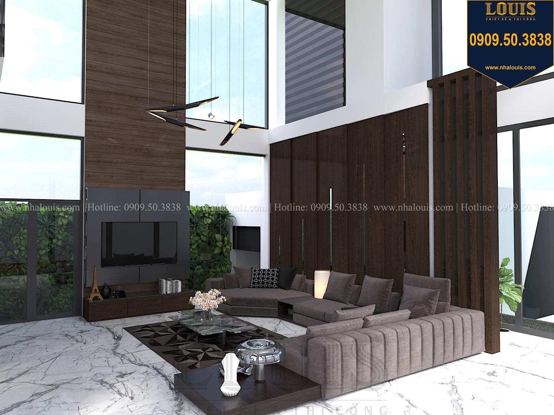 Phòng khách Mẫu biệt thự 3 tầng hiện đại với không gian mở ở quận 12 - 012