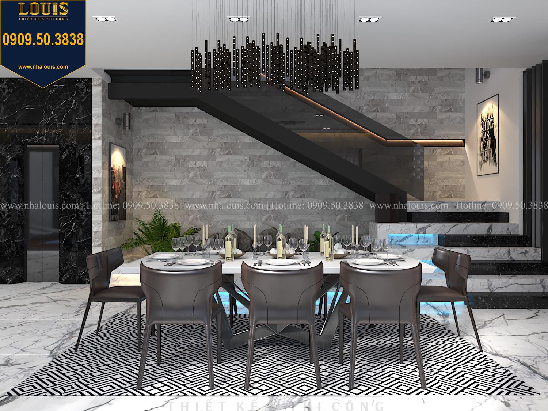 Phòng ăn Mẫu biệt thự 3 tầng hiện đại với không gian mở ở quận 12 - 013