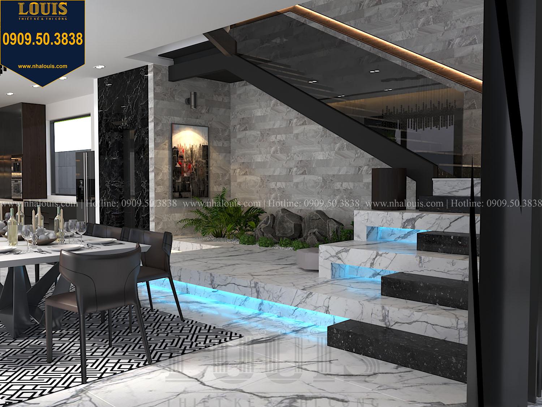 Tiểu cảnh cầu thang Mẫu biệt thự 3 tầng hiện đại với không gian mở ở quận 12 - 014