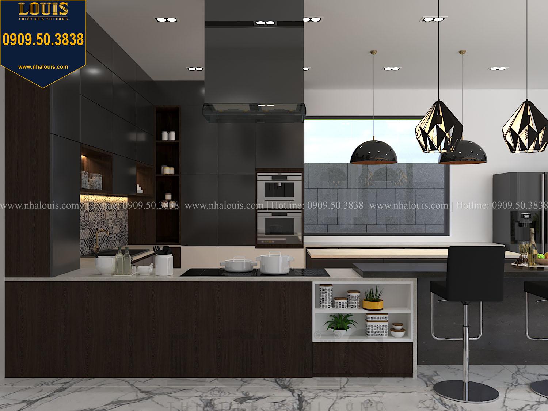 Bếp và quầy bar Mẫu biệt thự 3 tầng hiện đại với không gian mở ở quận 12 - 016