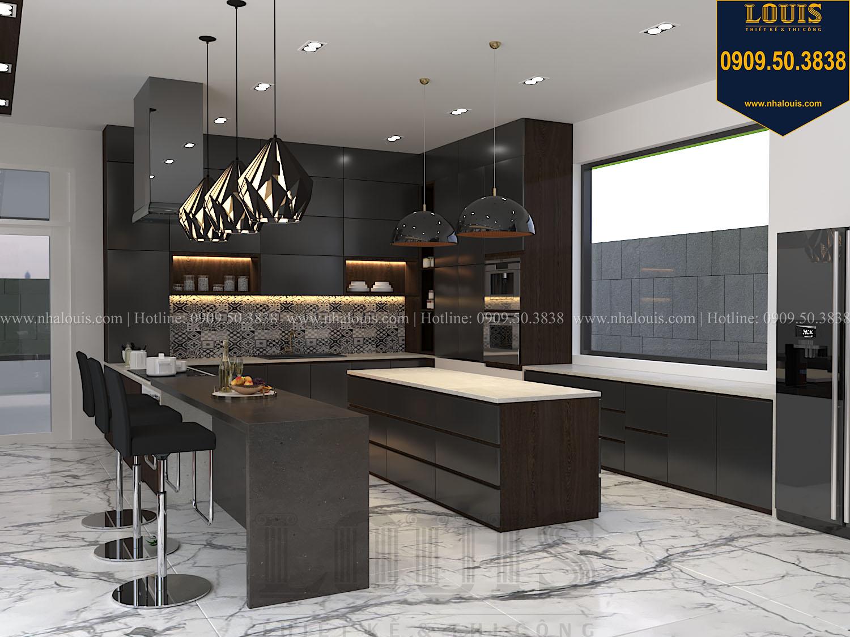Bếp Mẫu biệt thự 3 tầng hiện đại với không gian mở ở quận 12 - 017