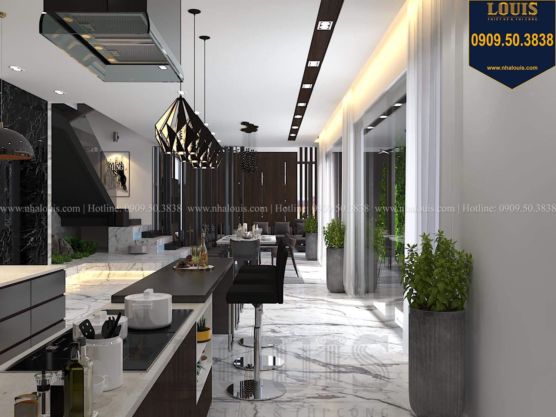 Bếp và quầy bar Mẫu biệt thự 3 tầng hiện đại với không gian mở ở quận 12 - 018