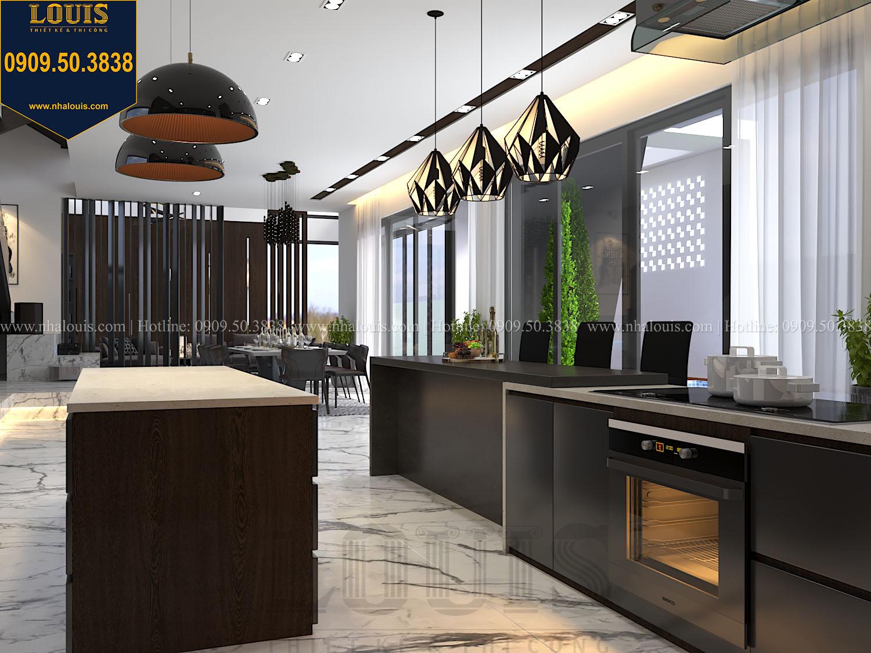 Bếp Mẫu biệt thự 3 tầng hiện đại với không gian mở ở quận 12 - 020