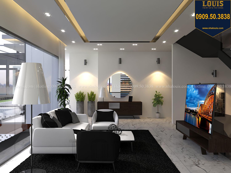 Phòng sinh hoạt chung Mẫu biệt thự 3 tầng hiện đại với không gian mở ở quận 12 - 022