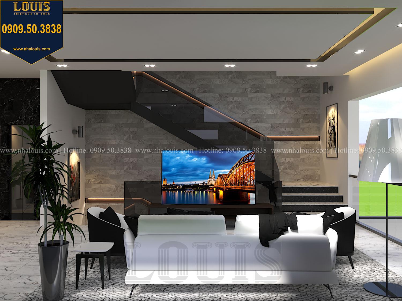 Phòng sinh hoạt chung Mẫu biệt thự 3 tầng hiện đại với không gian mở ở quận 12 - 023