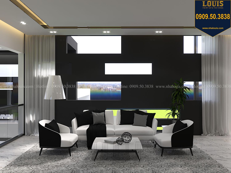 Phòng sinh hoạt chung Mẫu biệt thự 3 tầng hiện đại với không gian mở ở quận 12 - 024