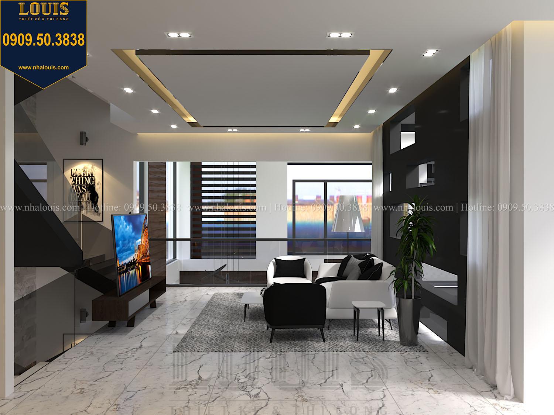Phòng sinh hoạt chung Mẫu biệt thự 3 tầng hiện đại với không gian mở ở quận 12 - 025