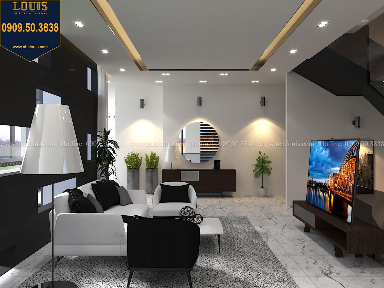 Phòng sinh hoạt chung Mẫu biệt thự 3 tầng hiện đại với không gian mở ở quận 12 - 026
