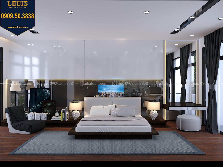 Phòng ngủ master Mẫu biệt thự 3 tầng hiện đại với không gian mở ở quận 12 - 027a