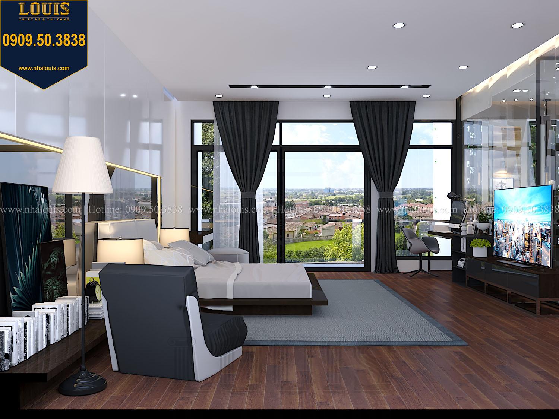 Phòng ngủ master Mẫu biệt thự 3 tầng hiện đại với không gian mở ở quận 12 - 027b