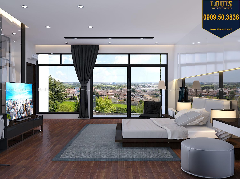 Phòng ngủ master Mẫu biệt thự 3 tầng hiện đại với không gian mở ở quận 12 - 028
