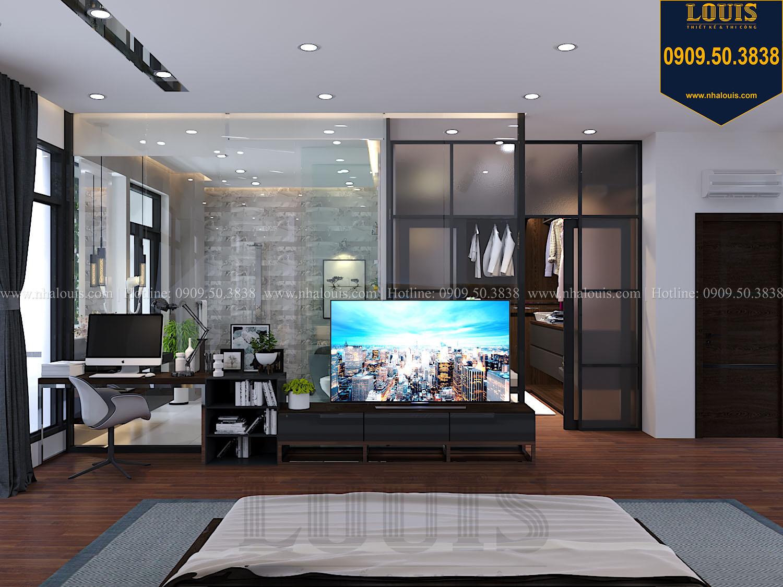 Phòng ngủ master Mẫu biệt thự 3 tầng hiện đại với không gian mở ở quận 12 - 029