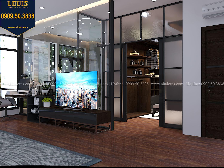 Phòng ngủ master Mẫu biệt thự 3 tầng hiện đại với không gian mở ở quận 12 - 030