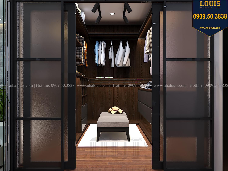 Phòng ngủ master Mẫu biệt thự 3 tầng hiện đại với không gian mở ở quận 12 - 032
