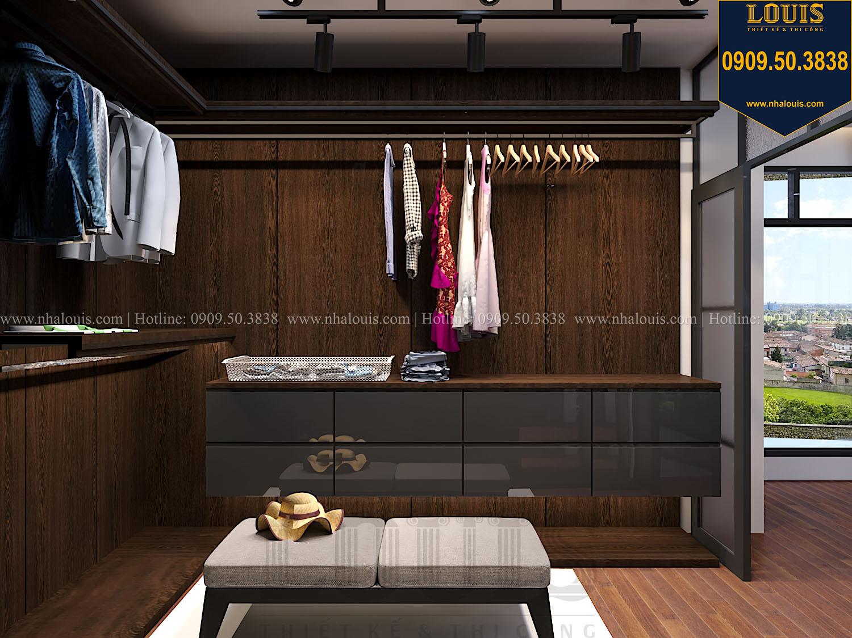 Phòng ngủ master Mẫu biệt thự 3 tầng hiện đại với không gian mở ở quận 12 - 034