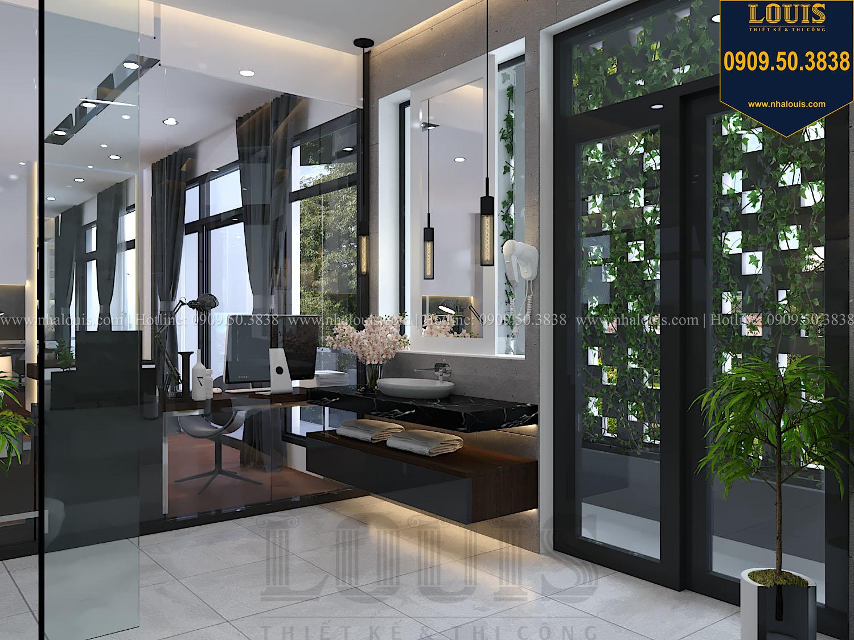 Phòng ngủ master Mẫu biệt thự 3 tầng hiện đại với không gian mở ở quận 12 - 037