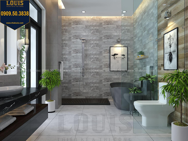 Phòng ngủ master Mẫu biệt thự 3 tầng hiện đại với không gian mở ở quận 12 - 038
