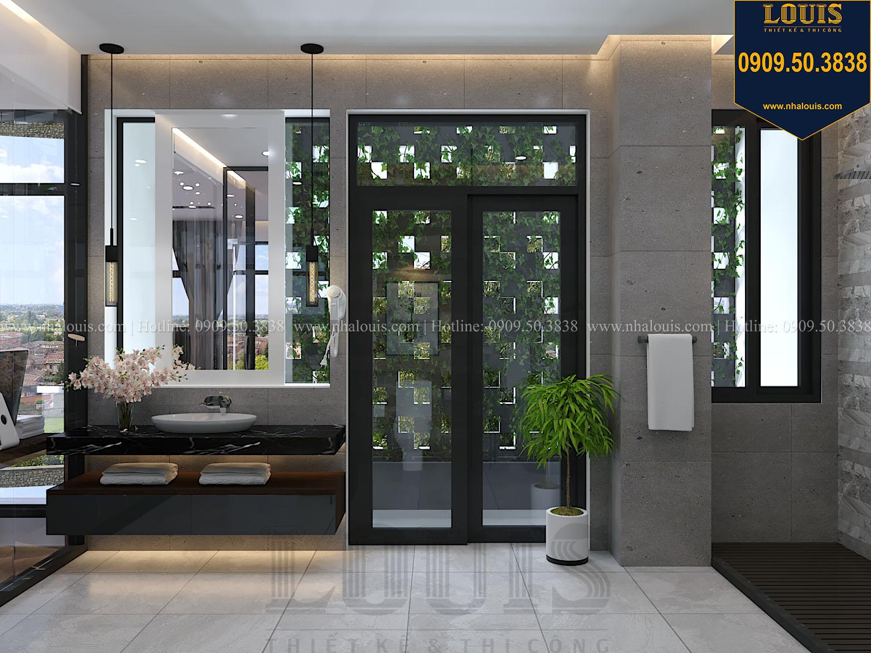 Phòng ngủ master Mẫu biệt thự 3 tầng hiện đại với không gian mở ở quận 12 - 039