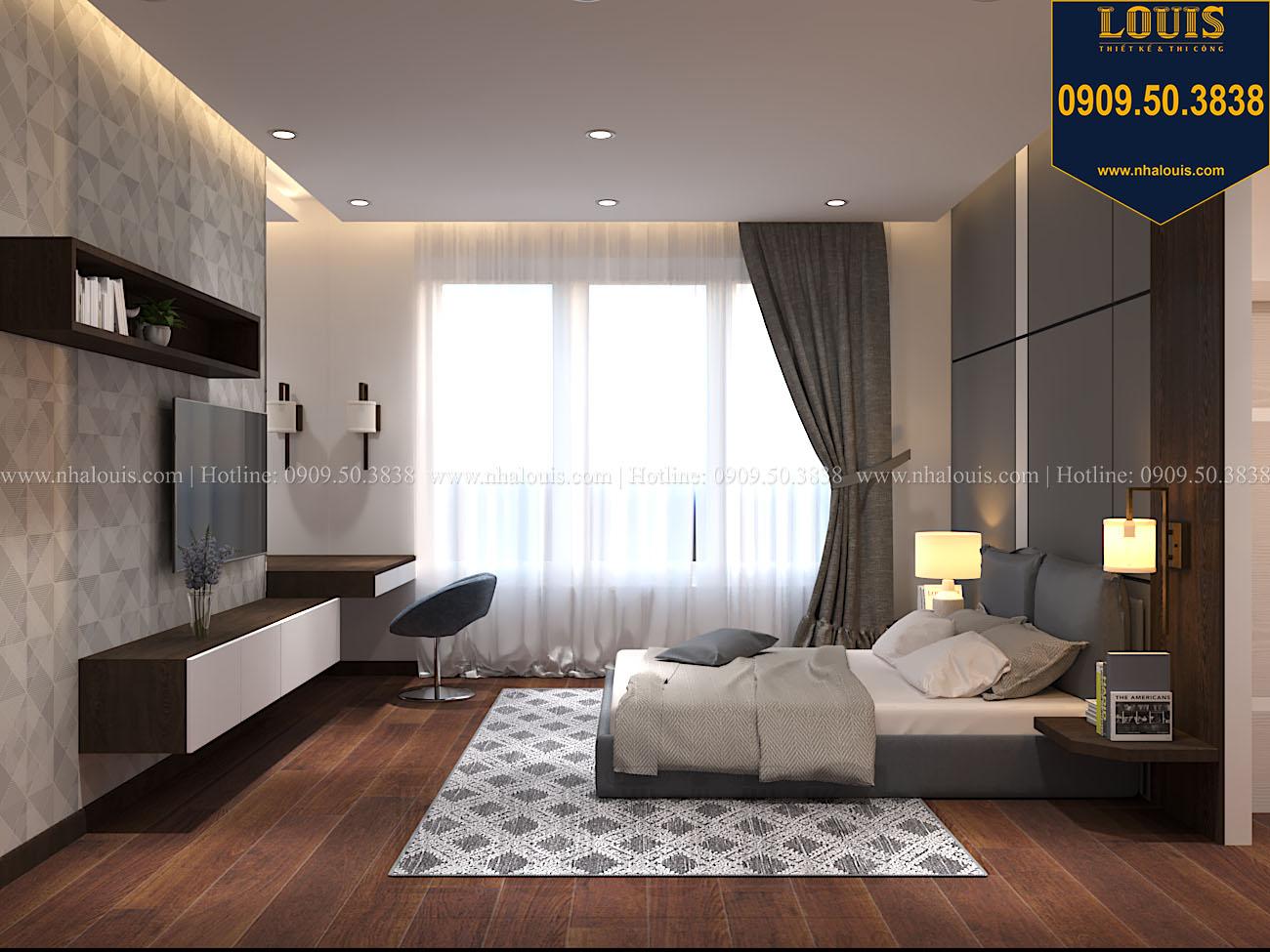 Phòng ngủ Mẫu biệt thự 3 tầng hiện đại với không gian mở ở quận 12 - 041