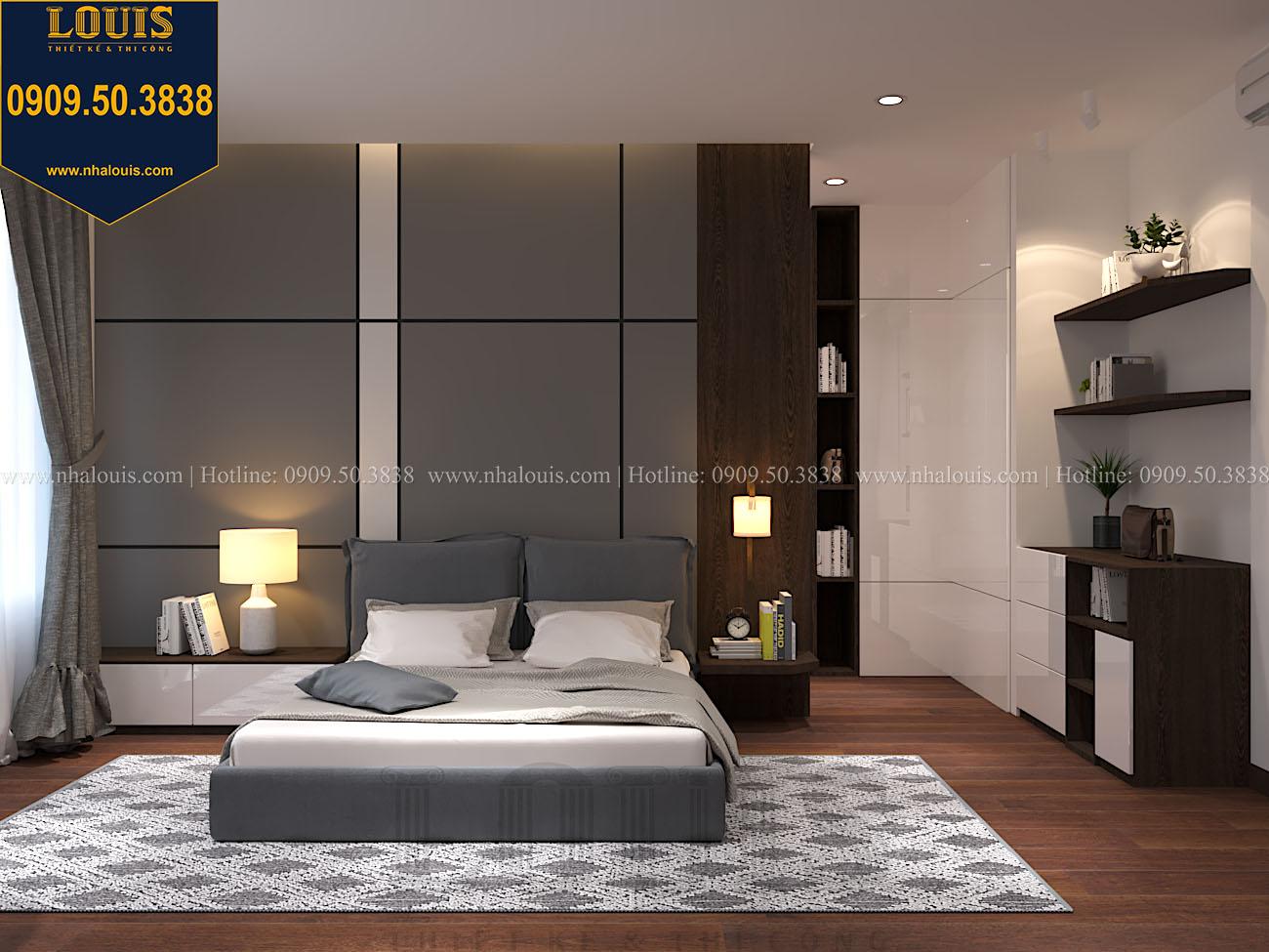 Phòng ngủ Mẫu biệt thự 3 tầng hiện đại với không gian mở ở quận 12 - 042
