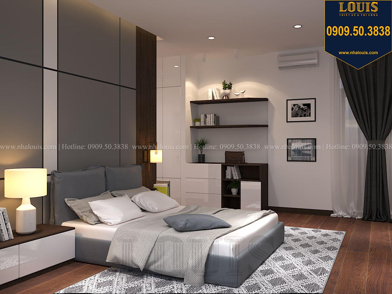 Phòng ngủ Mẫu biệt thự 3 tầng hiện đại với không gian mở ở quận 12 - 043