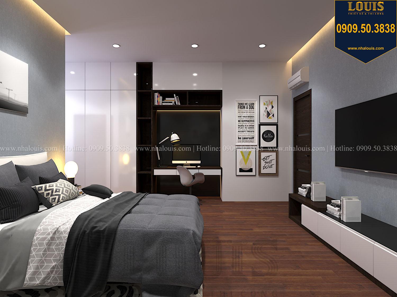 Phòng ngủ Mẫu biệt thự 3 tầng hiện đại với không gian mở ở quận 12 - 045