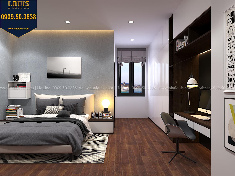 Phòng ngủ Mẫu biệt thự 3 tầng hiện đại với không gian mở ở quận 12 - 046