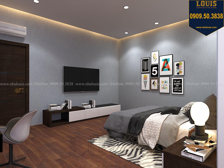 Phòng ngủ Mẫu biệt thự 3 tầng hiện đại với không gian mở ở quận 12 - 047