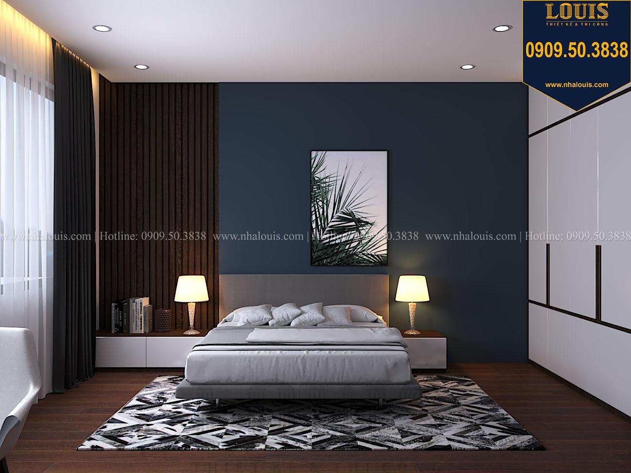 Phòng ngủ Mẫu biệt thự 3 tầng hiện đại với không gian mở ở quận 12 - 048